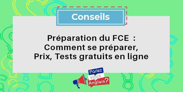 test FCE anglais