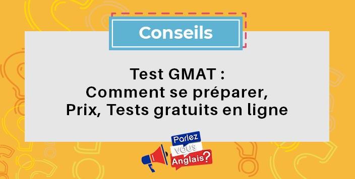 test gmat anglais