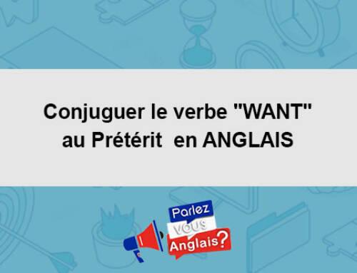 Conjuguer le verbe «WANT» au Prétérit  en ANGLAIS